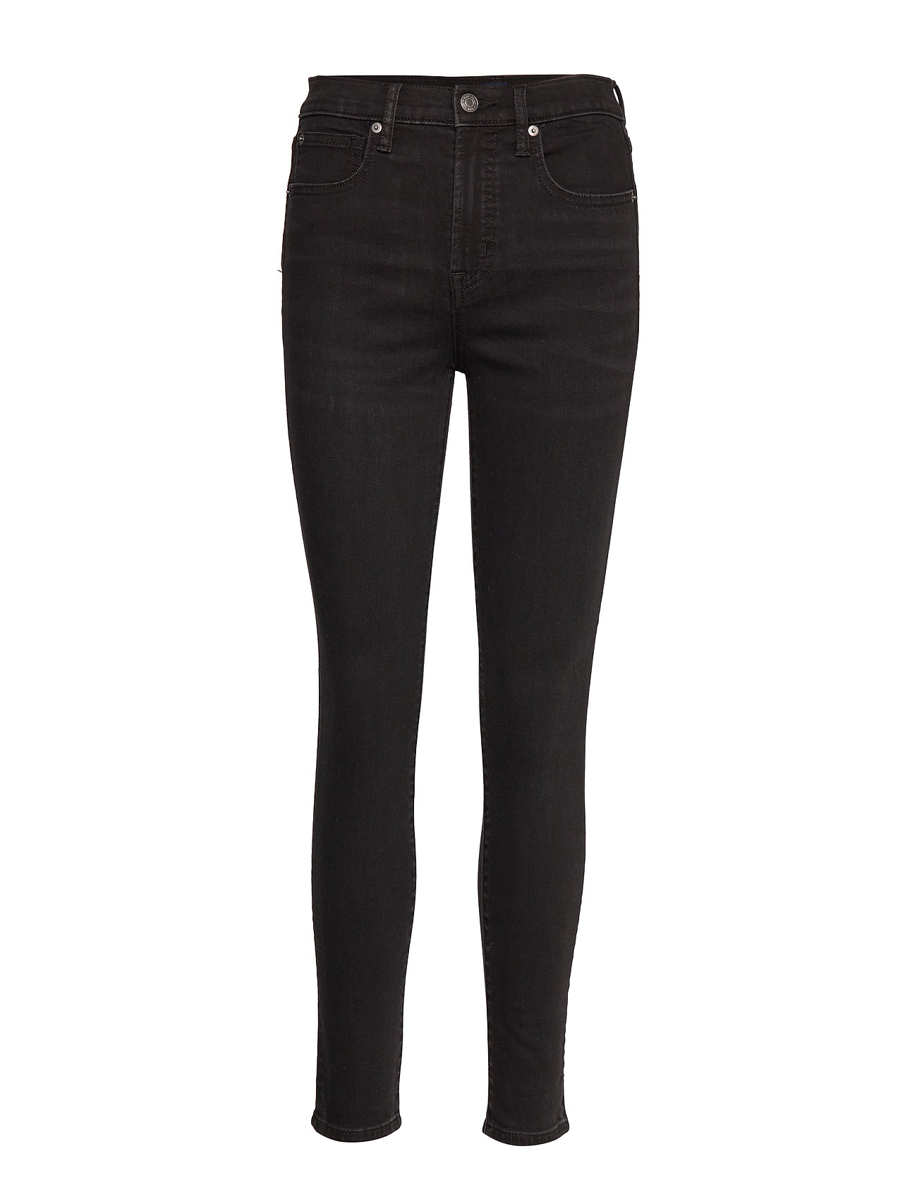 GAP High Rise True Skinny Jeans with Secret Smoothing Pockets - TRUE BLACK V2