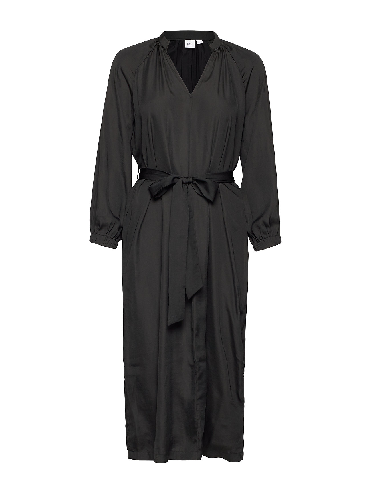 GAP Split-Neck Midi Dress - TRUE BLACK V2 2