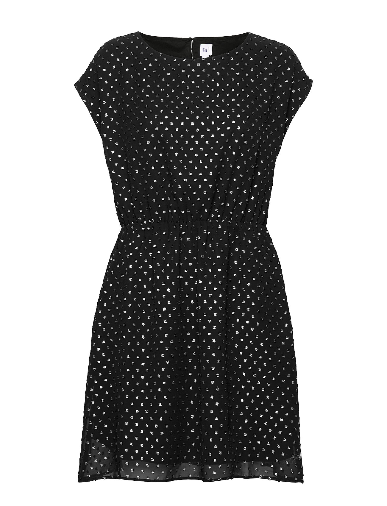 GAP Metallic Clip-Dot Skater Dress - TRUE BLACK V2