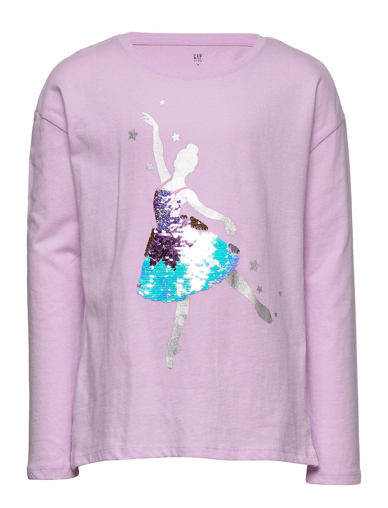 GAP Kids Holiday Flippy Sequin Graphic T-shirt - VIOLET MIST