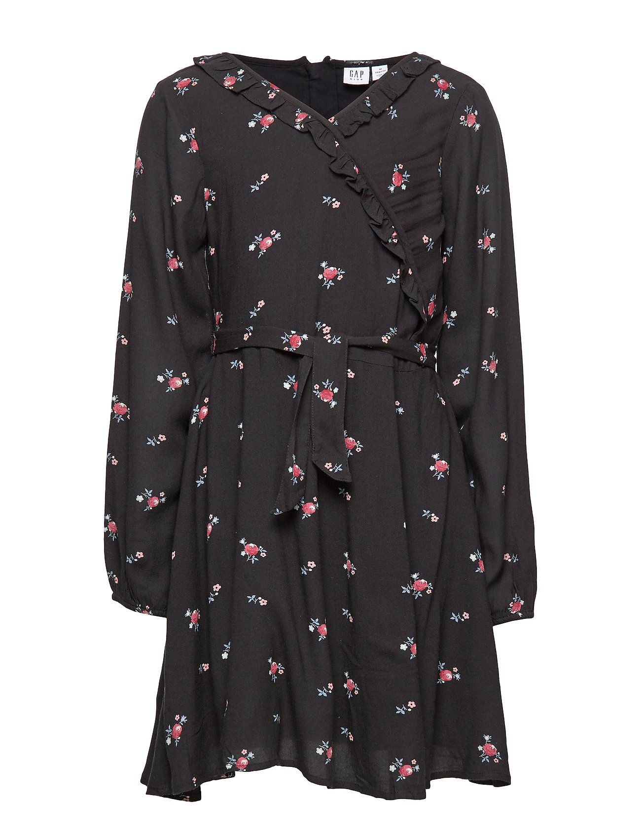 GAP Kids Ruffle Wrap Dress - TRUE BLACK