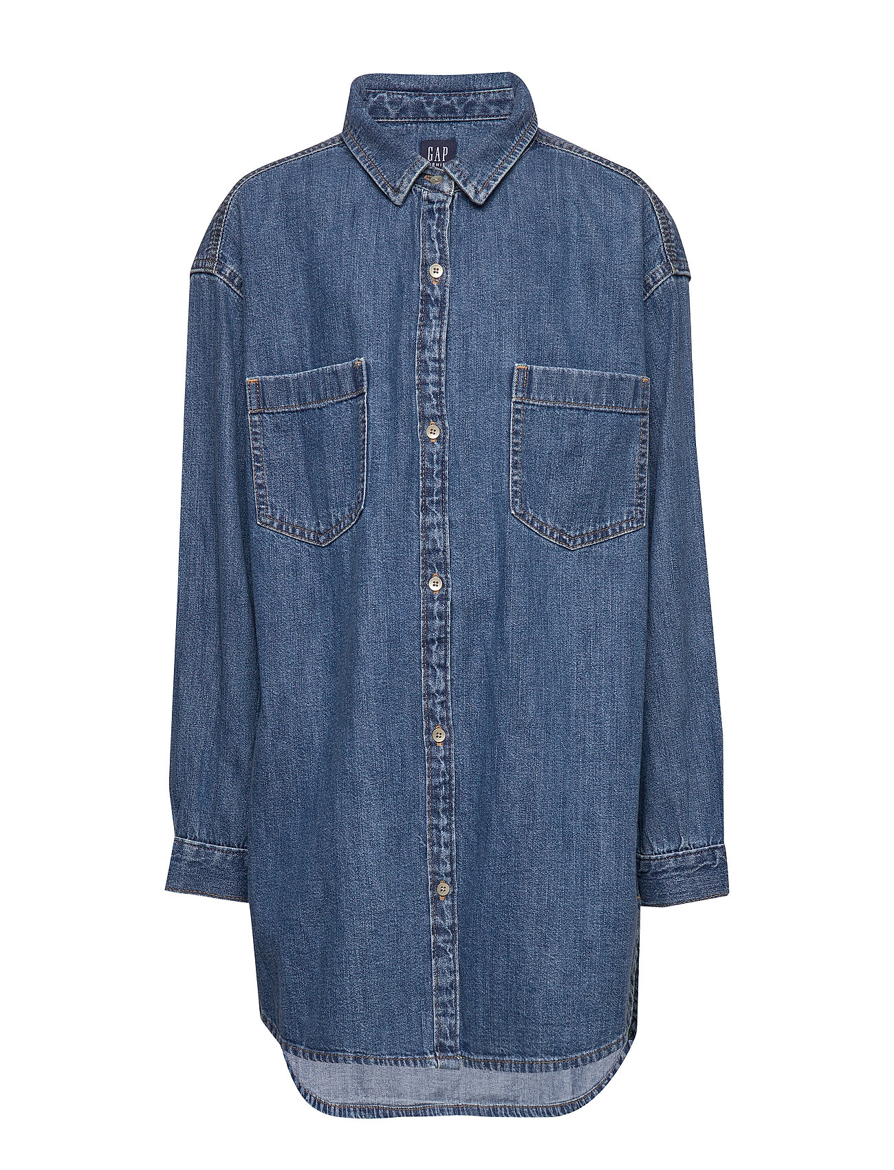 GAP Kids Oversize Denim Shirt - DENIM 616