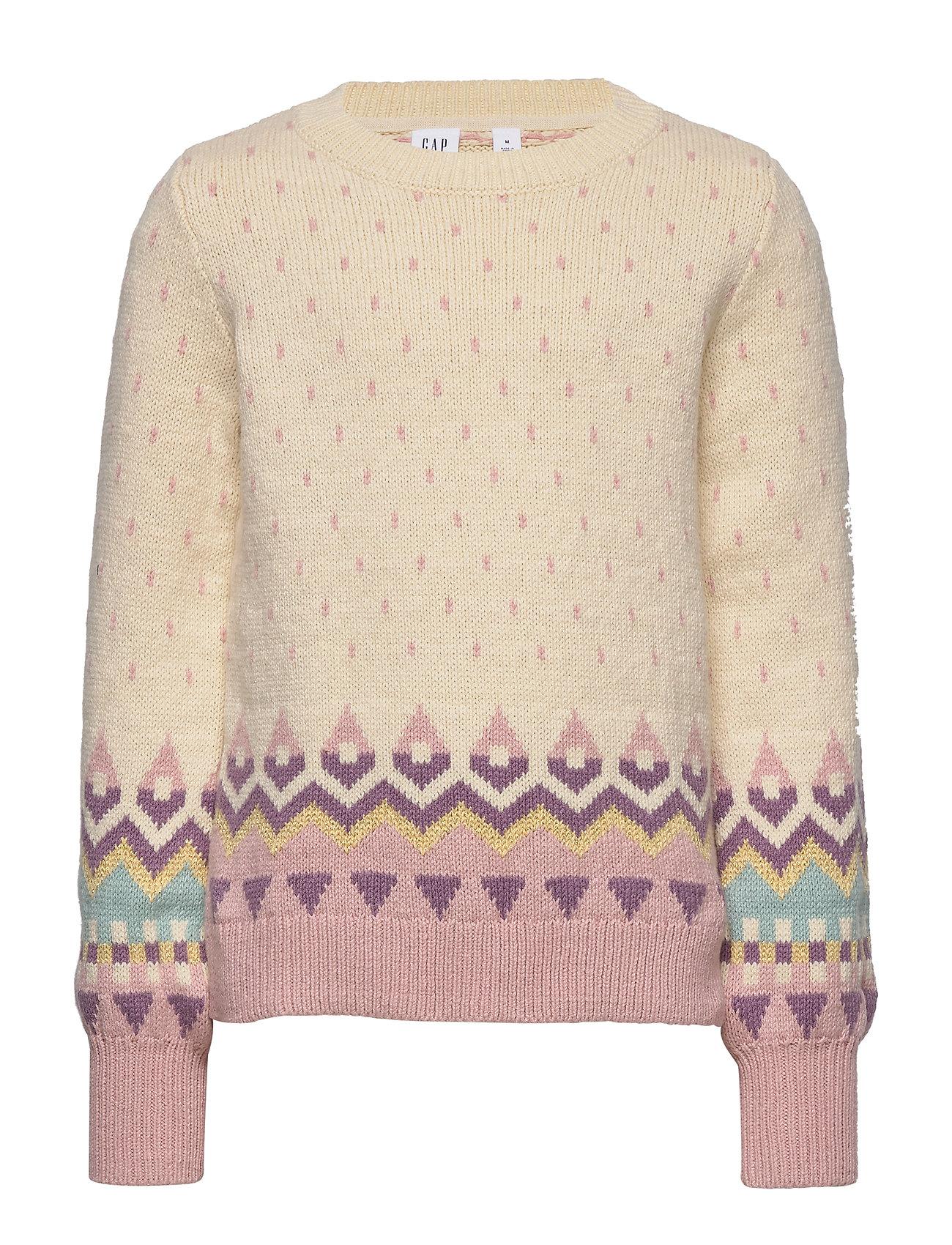 GAP Kids Geometric Pattern Sweater - IVORY FROST VERSION 2