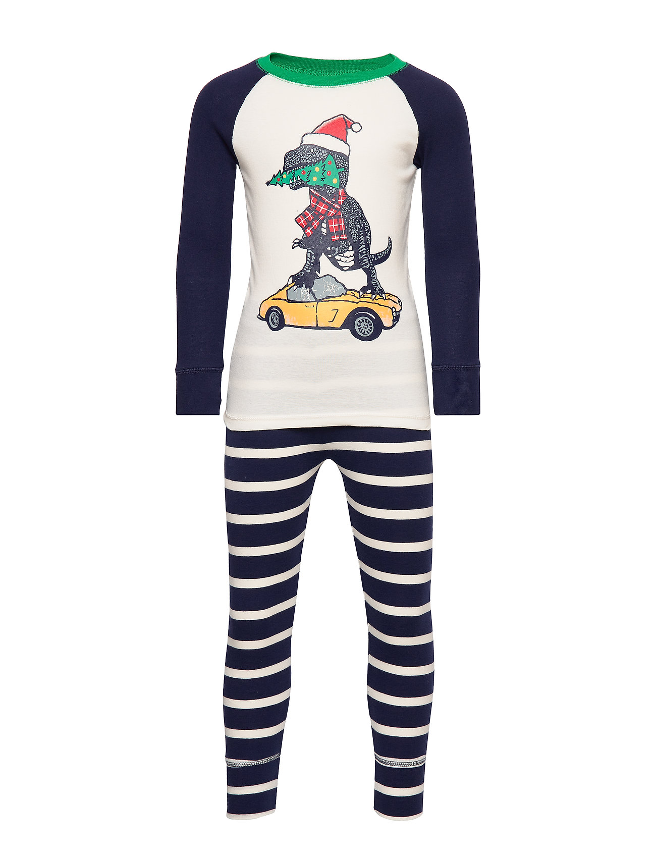 GAP Kids Holiday Dino PJ Set - GREEN STREET