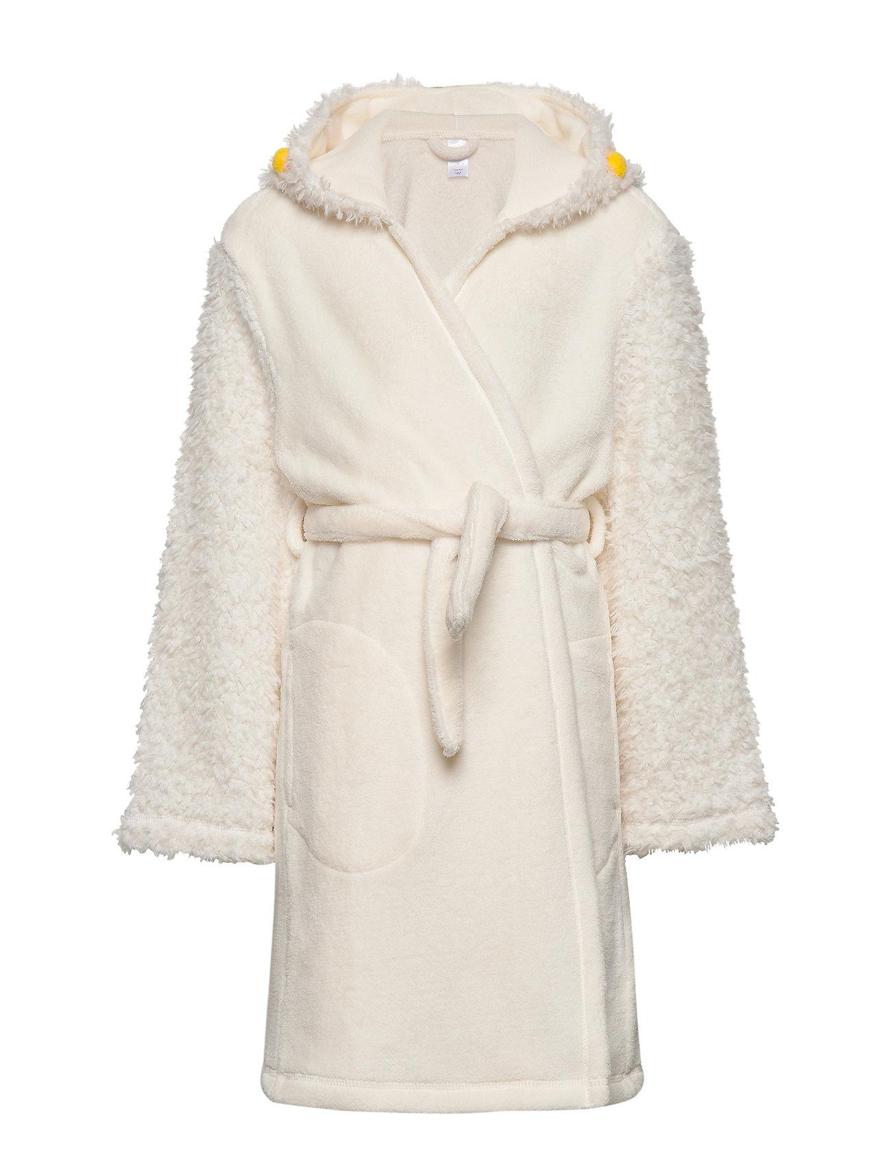 GAP Kids Llama Robe - IVORY FROST