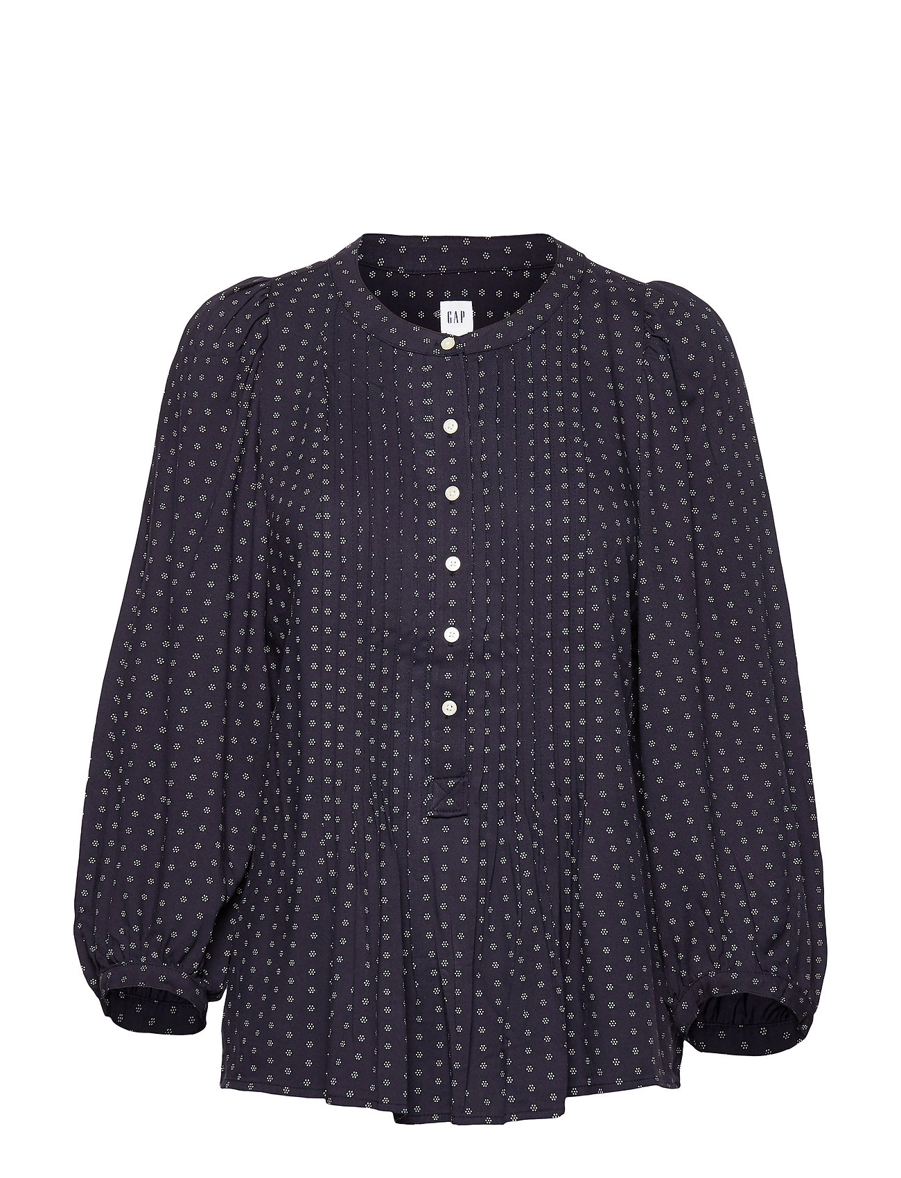 GAP Pleated Popover Top - NAVY PRINT