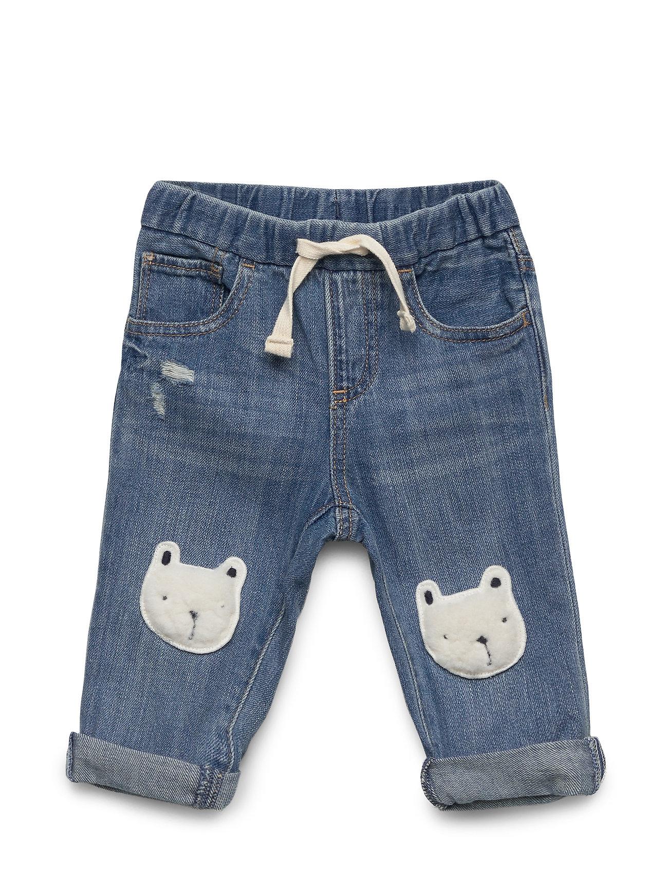 Image of Po Slim Bear Jeans Blå GAP (3341921075)