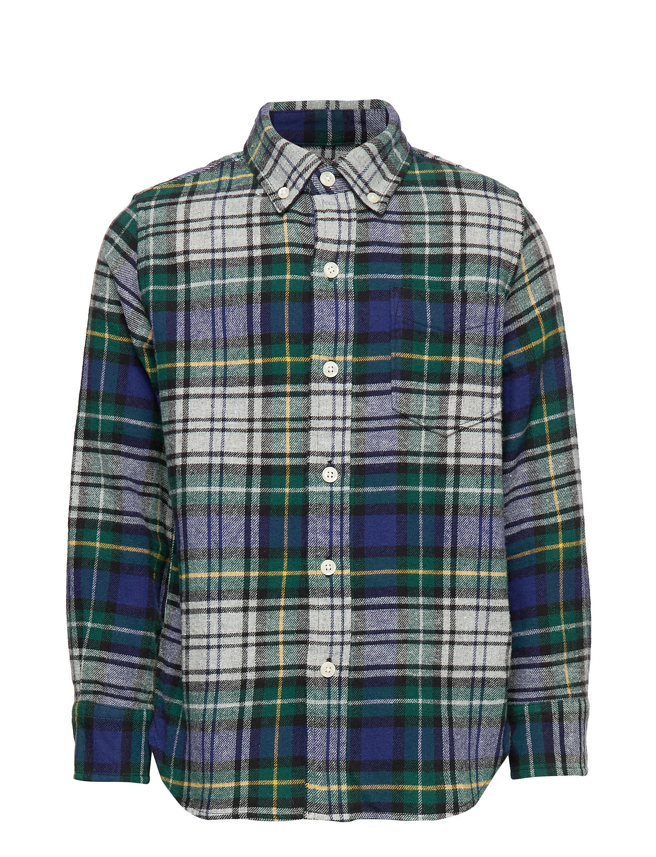 GAP Kids Flannel Shirt - GREY BLUE PLAID