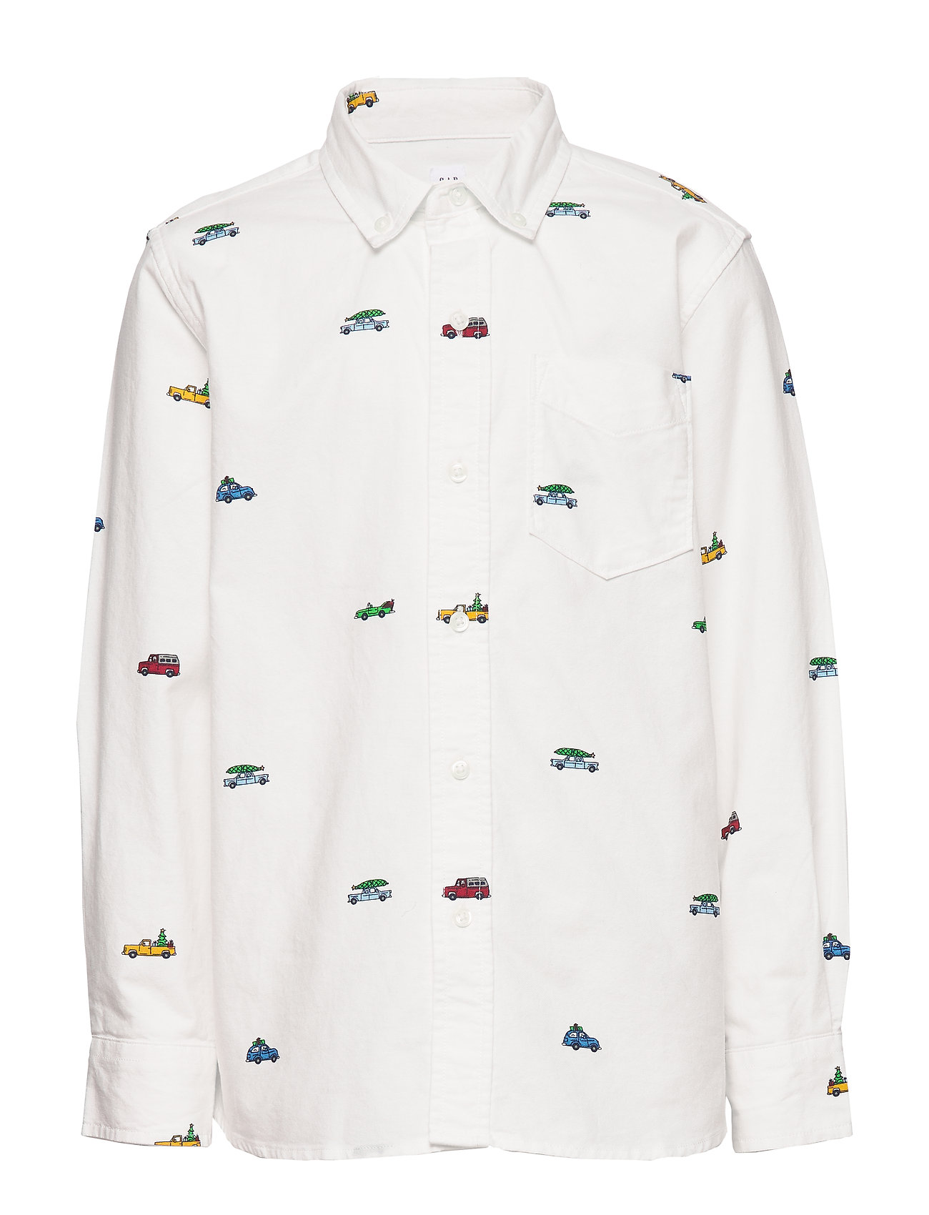 GAP Kids Oxford Button-Down Shirt - NEW OFF WHITE