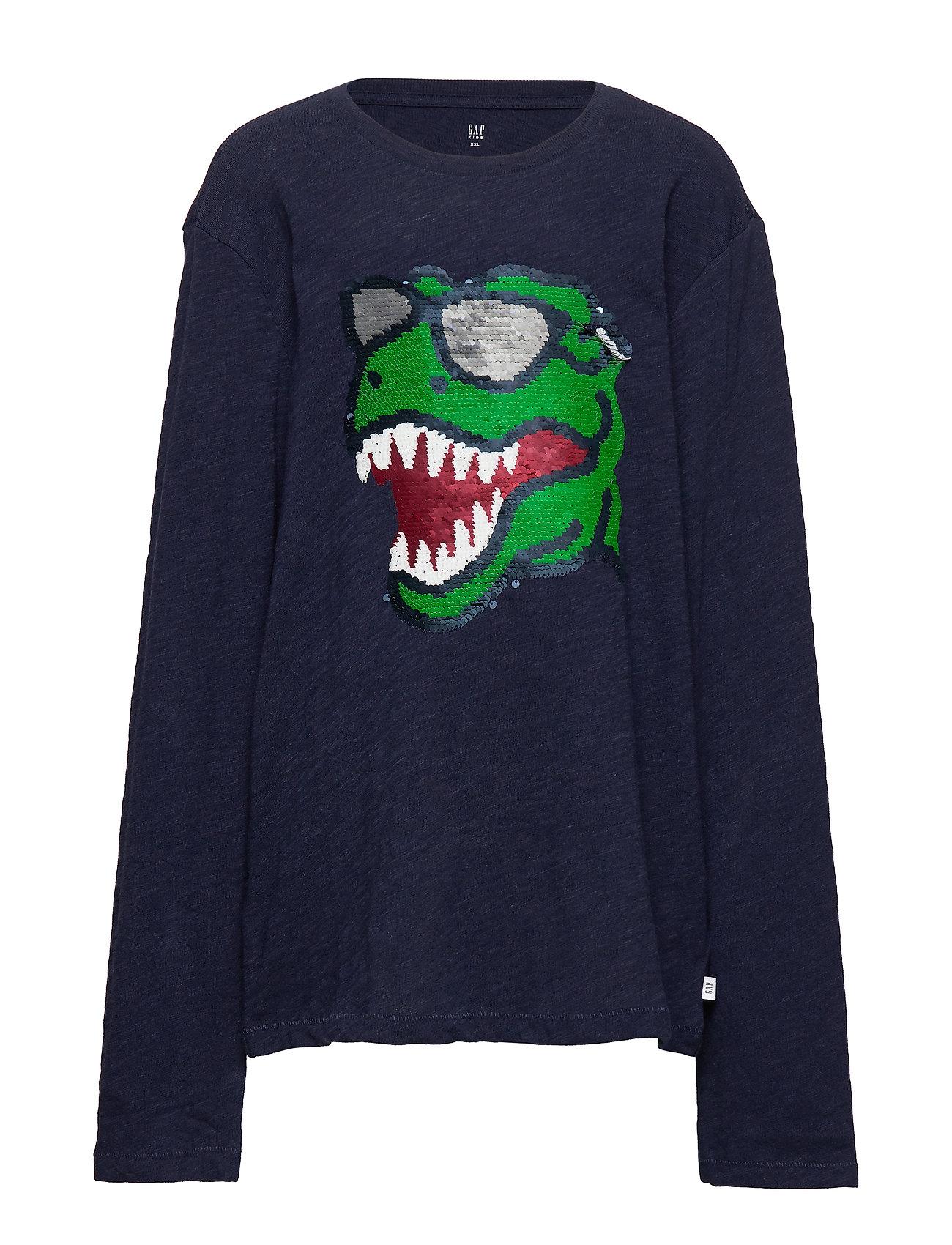 GAP Kids Flippy Sequin T-Shirt - TAPESTRY NAVY V2