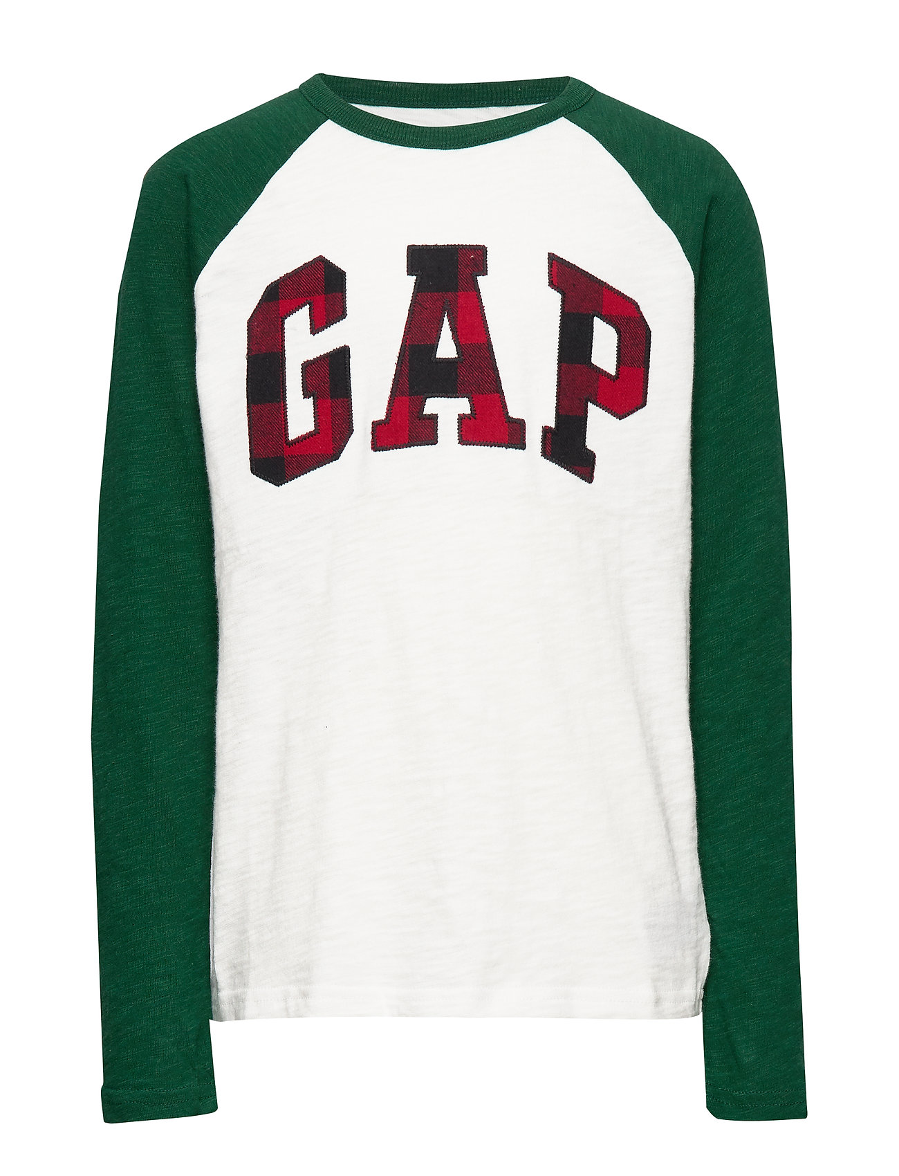 GAP Kids Gap Logo Plaid T-Shirt - NEW OFF WHITE