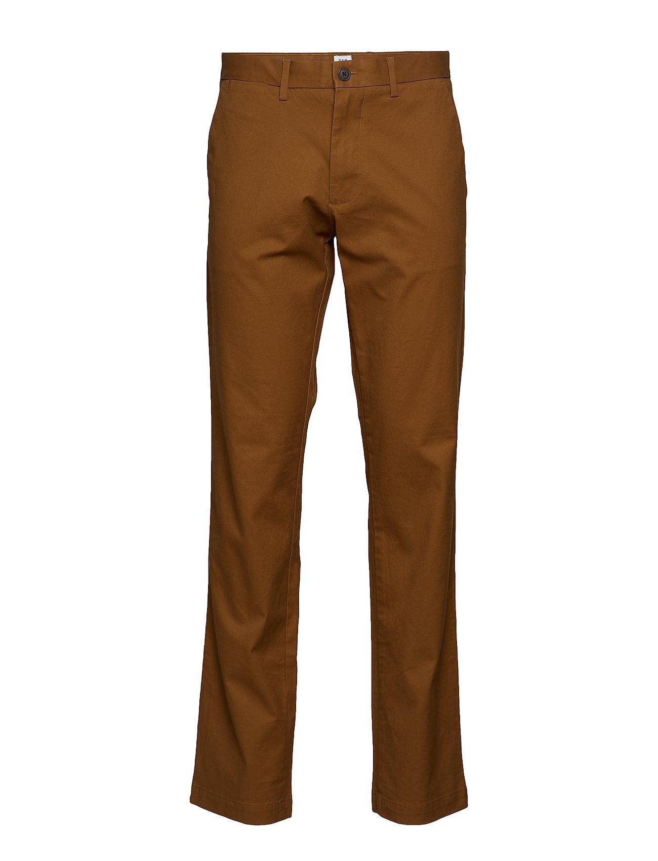 GAP Original Khakis in Straight Fit with GapFlex - PALOMINO BROWN GLOBAL