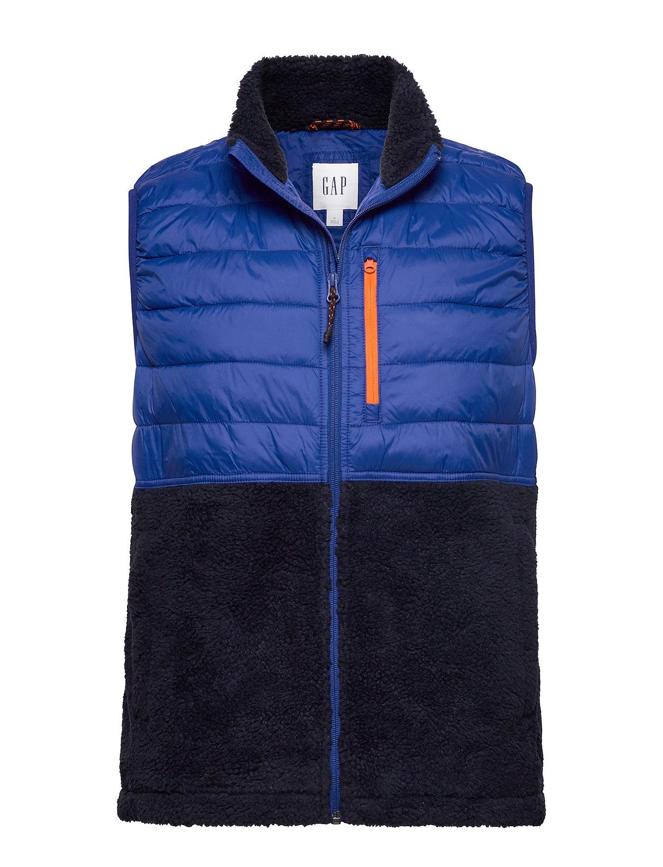 GAP Mix-Fabric Sherpa Vest - BODEGA BAY