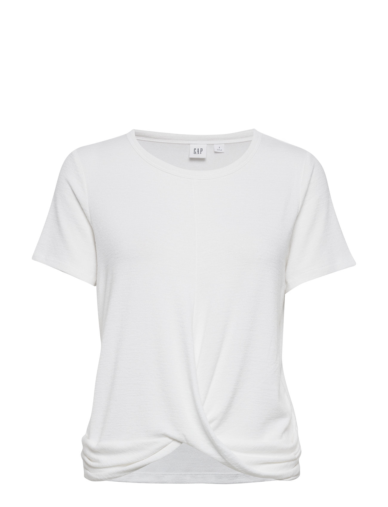 GAP Softspun Twist-Front Shirt - WHITE000
