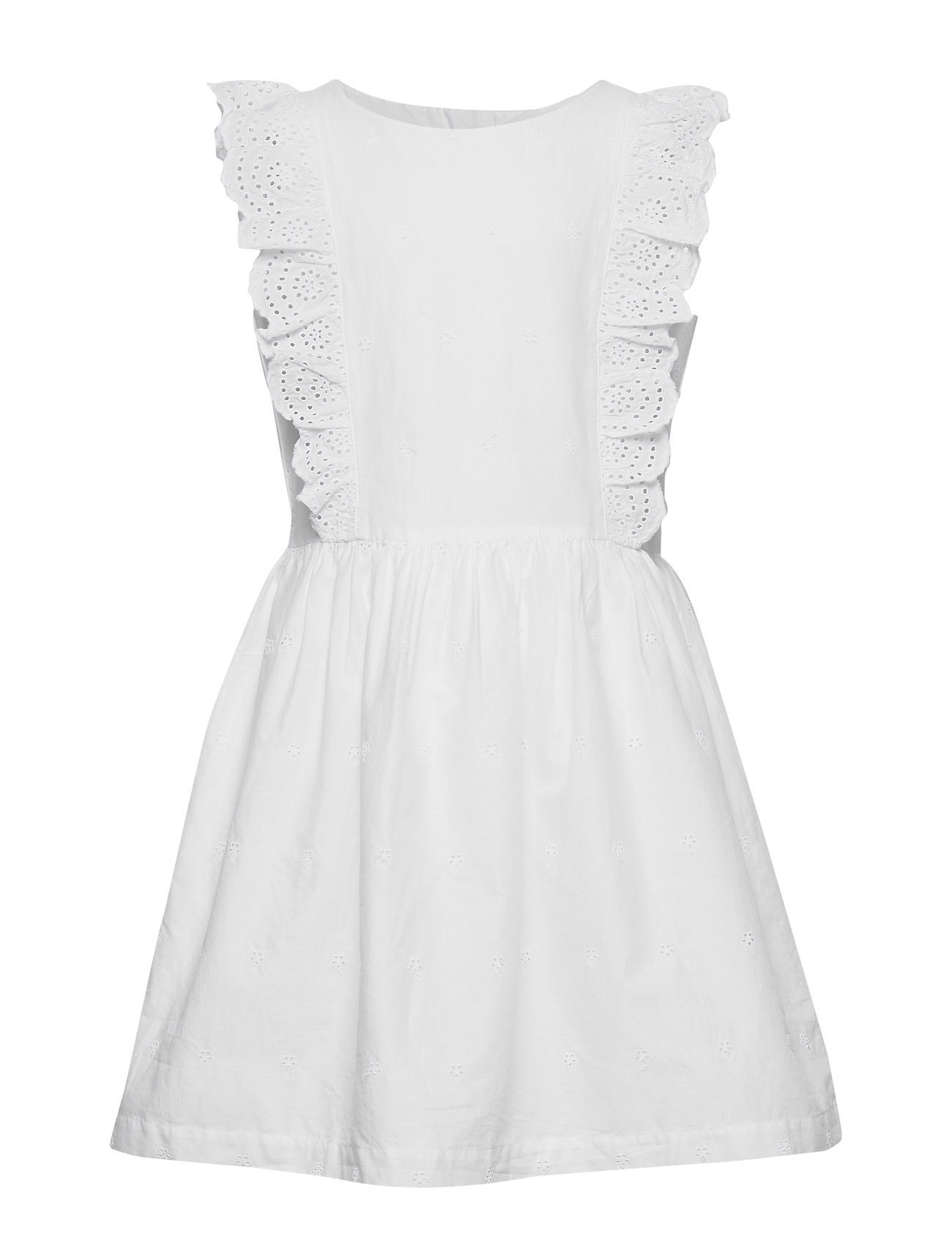 GAP Kids Eyelet Ruffle Dress - OPTIC WHITE 3