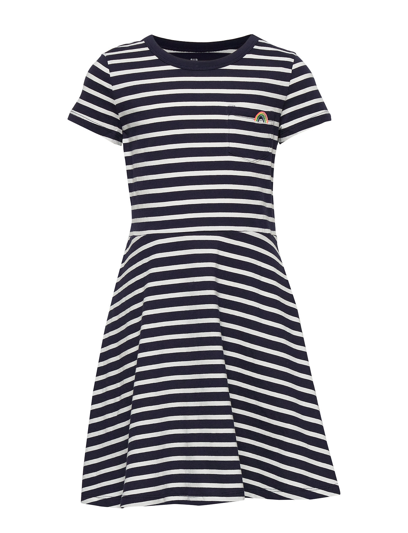 GAP Kids Print Fit and Flare Dress - NAVY STRIPE