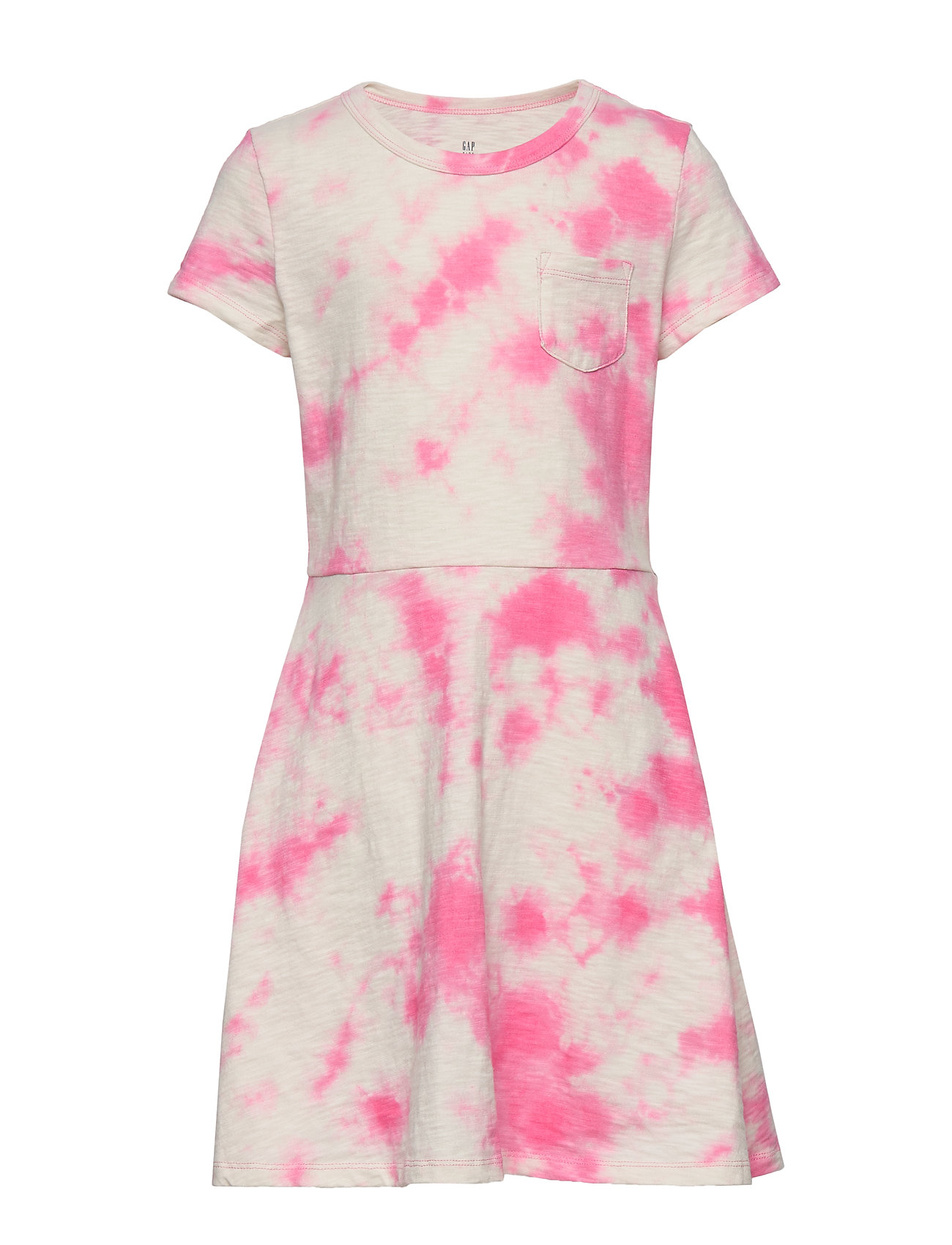 GAP Kids Print Fit and Flare Dress - PINK TIE DYE