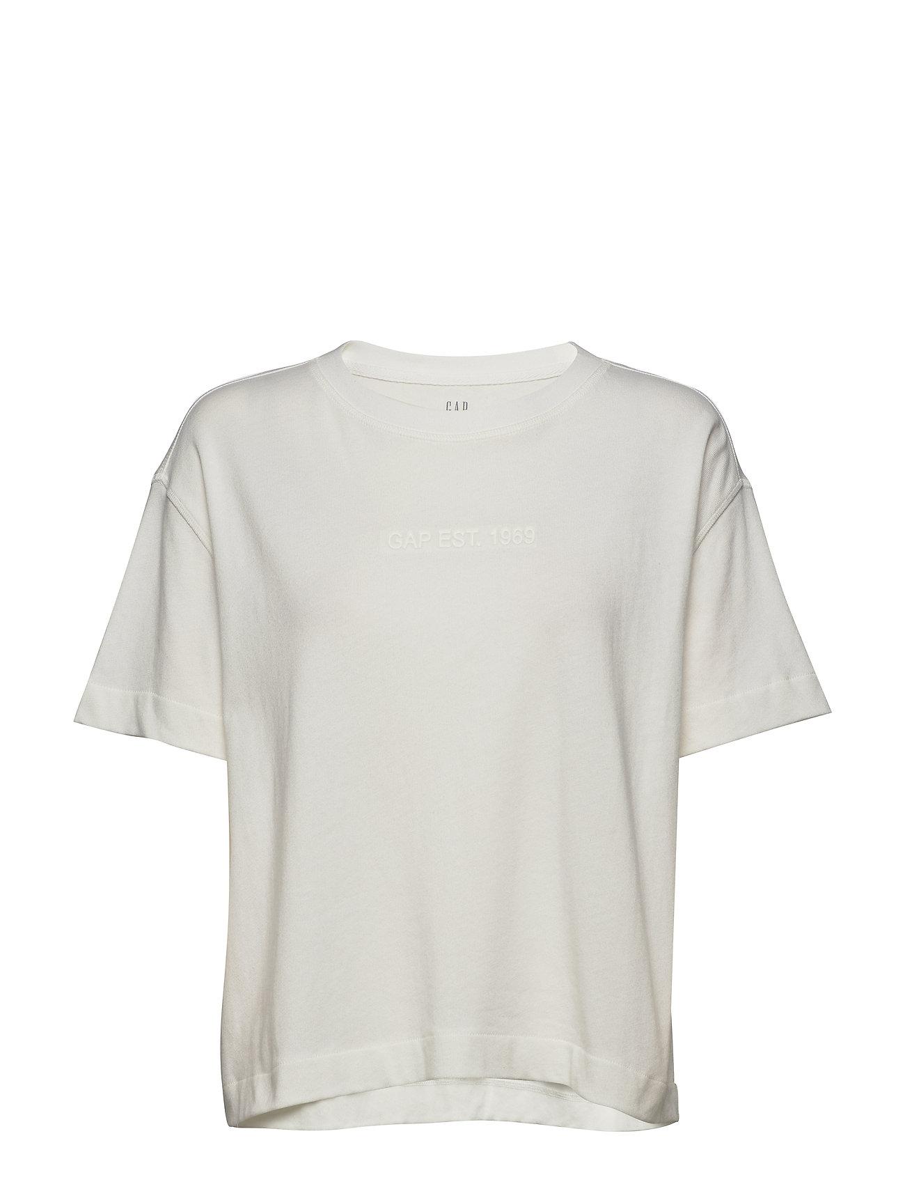 GAP Gap Logo Cropped T-Shirt - MILK 600 GLOBAL