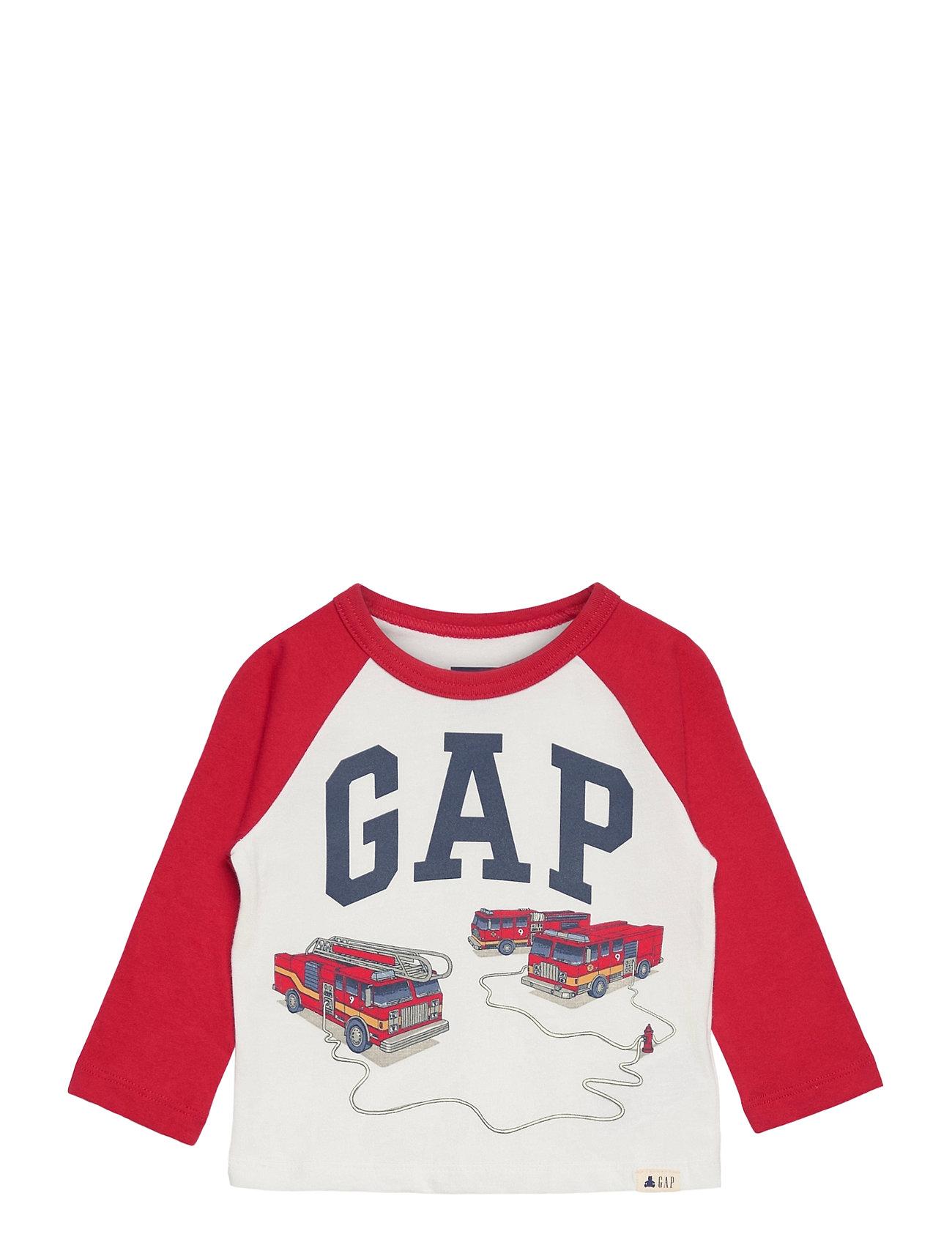 Image of Toddler Mix And Match Gap Logo Graphic Shirt Langærmet T-shirt Hvid GAP (3456630531)