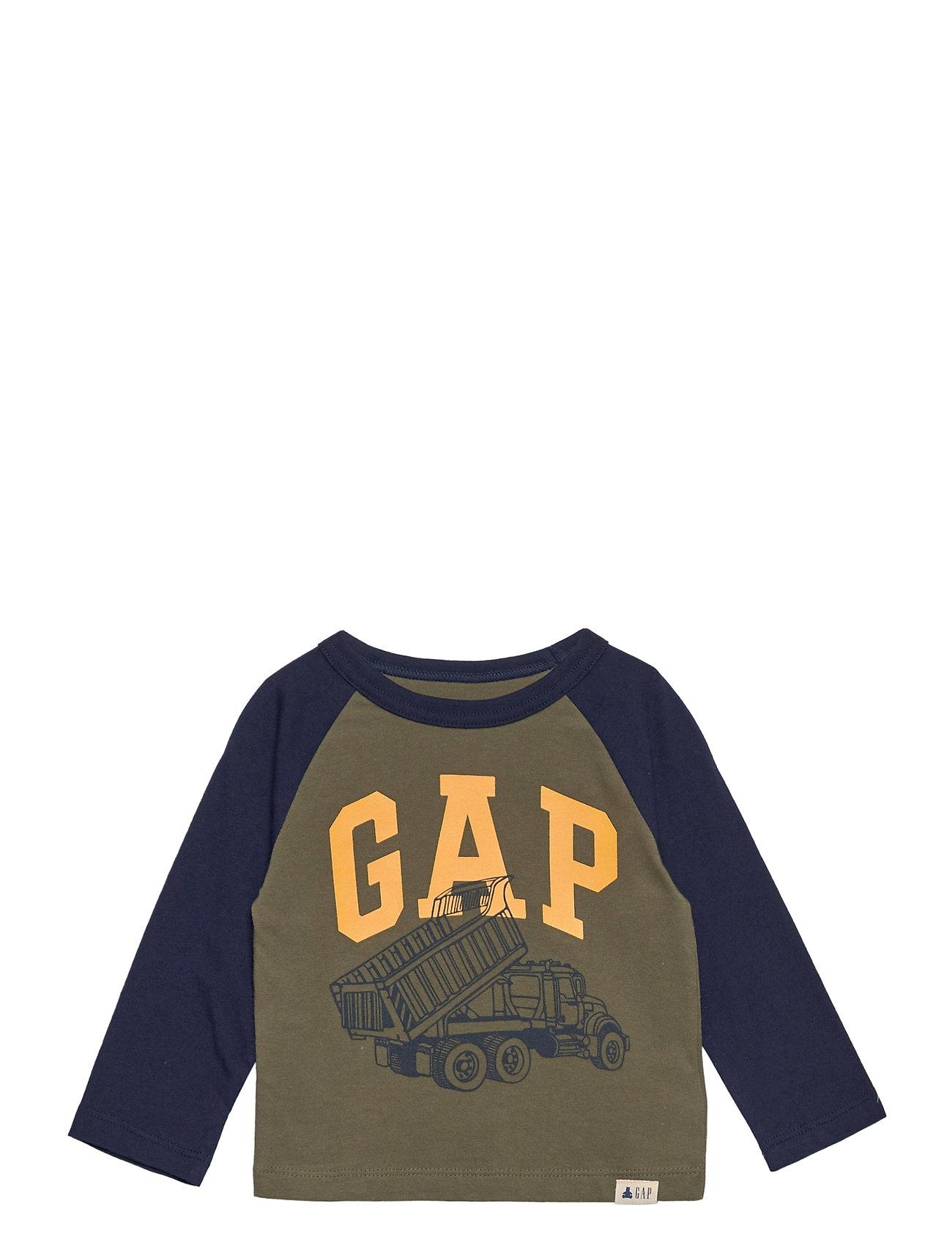 Image of Toddler Mix And Match Gap Logo Graphic Shirt Langærmet T-shirt Grøn GAP (3456630529)