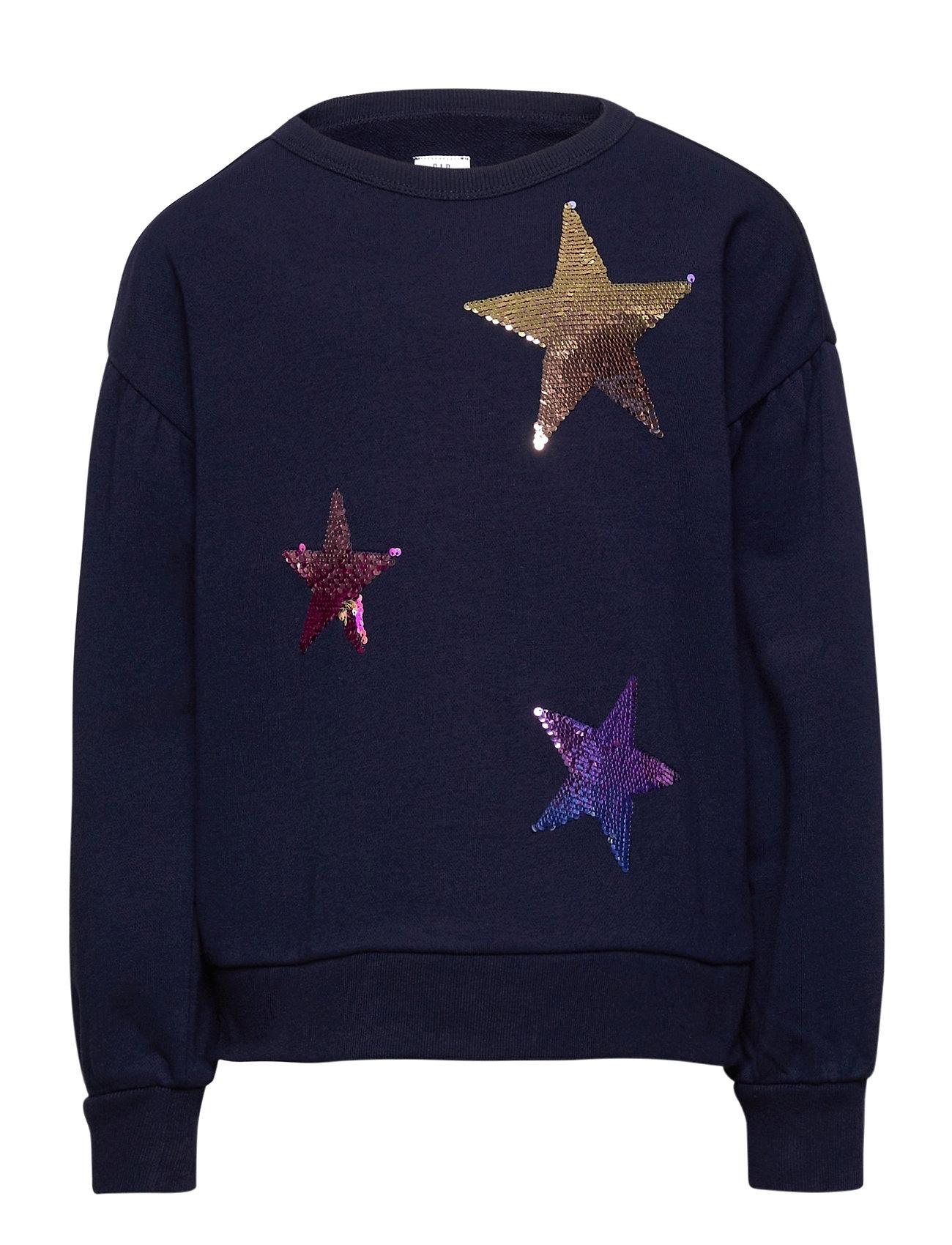 Image of Kids Flippy Sequin Crewneck Sweatshirt Sweatshirt Trøje Blå GAP (3464913867)