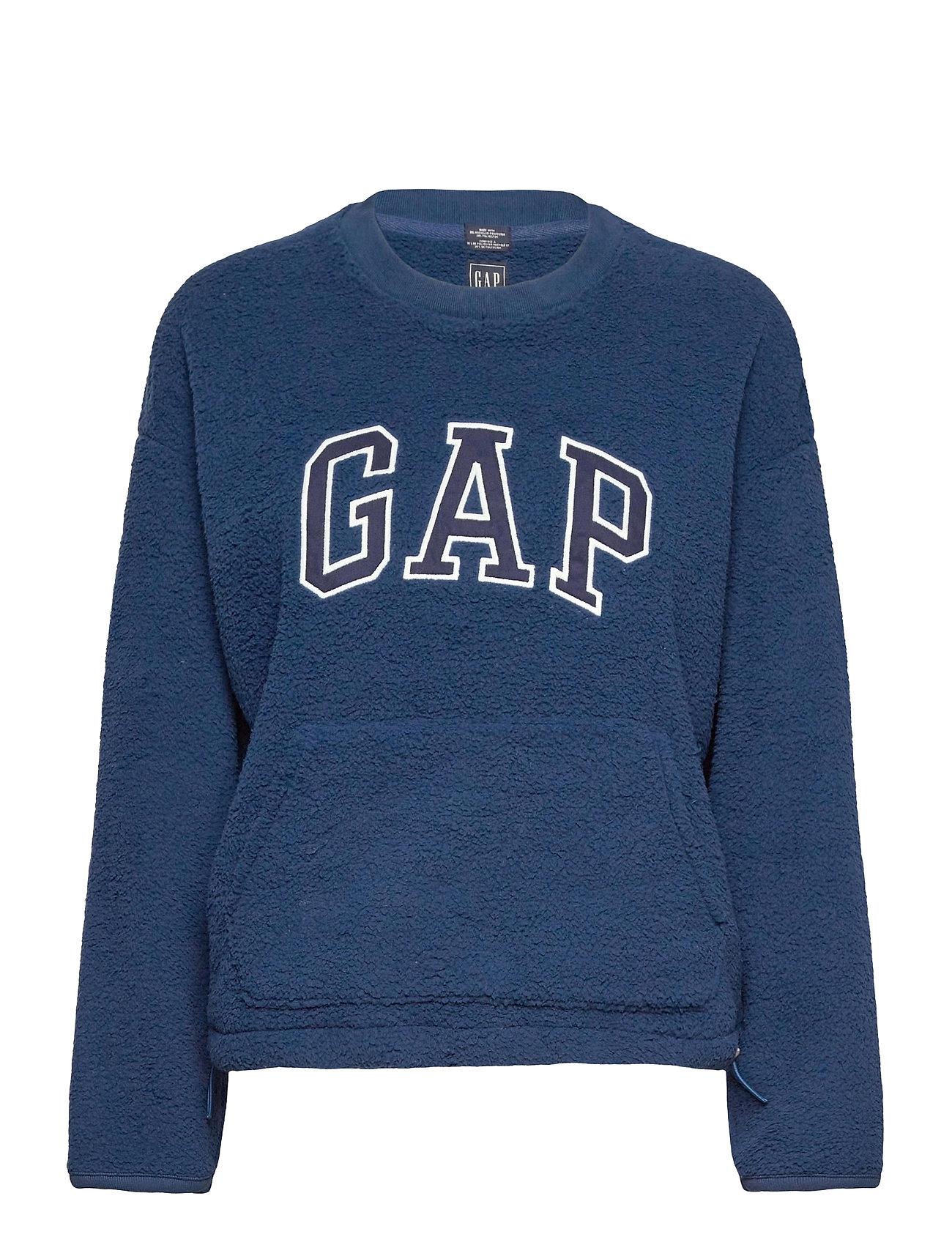 Image of Gap Sherpa Po Cr Sweatshirt Trøje Blå GAP (3489185077)