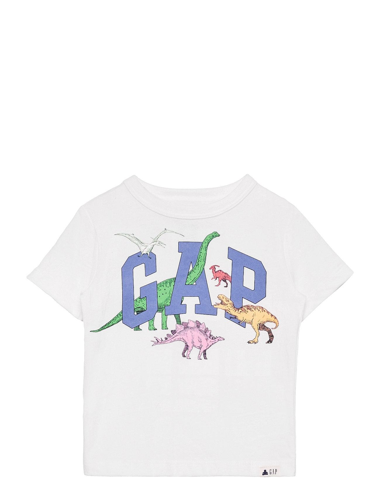 Image of Toddler 100% Organic Cotton Mix And Match Gap Logo T-Shirt T-shirt Hvid GAP (3505009921)