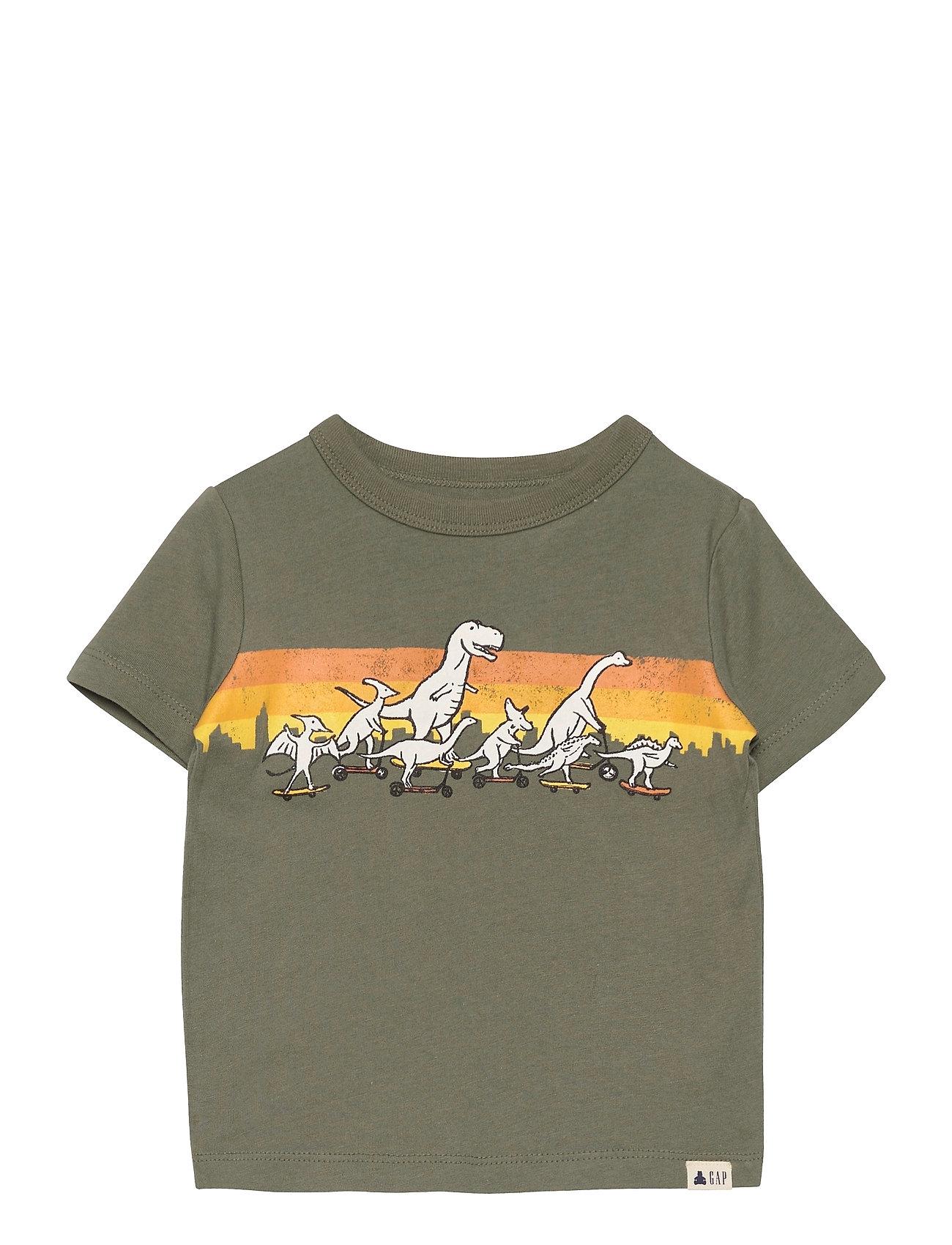 Image of Toddler 100% Organic Cotton Mix And Match Graphic T-Shirt T-shirt Grøn GAP (3505712293)
