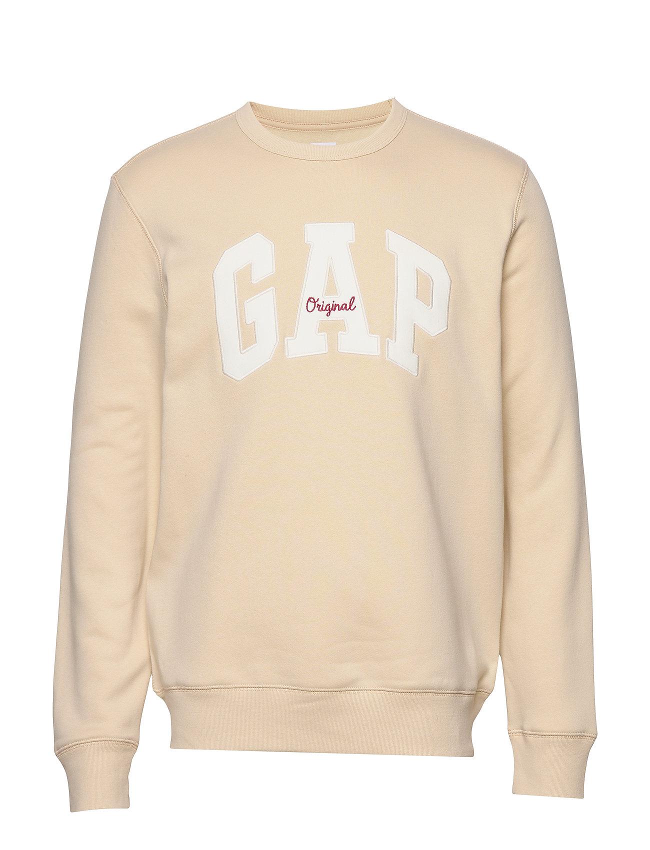 GAP Gap Logo Fleece Crewneck Sweatshirt - ECRU 033