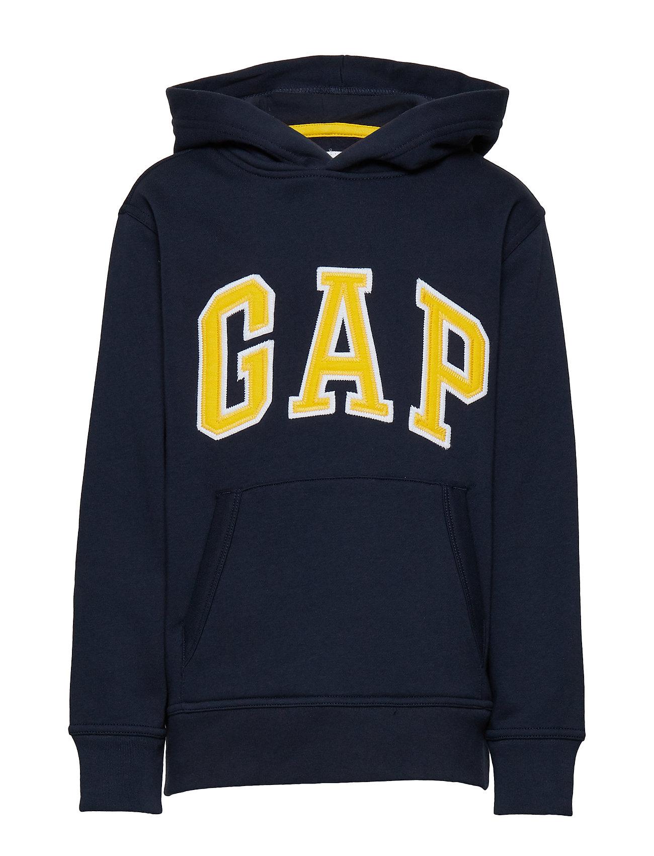 GAP Kids Gap Logo Hoodie Sweatshirt - BLUE GALAXY