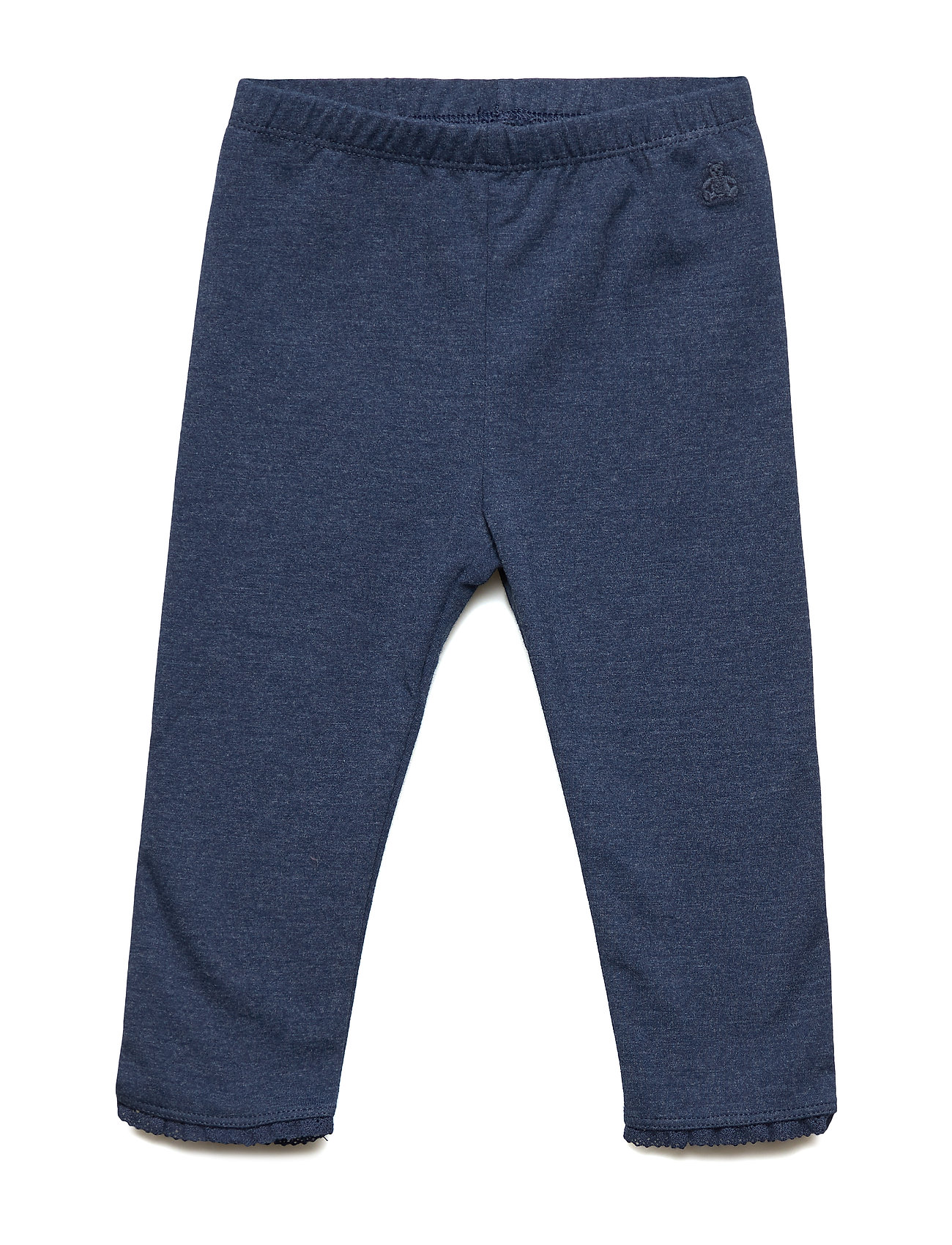GAP Baby Lace-Trim Leggings - BLUE HEATHER