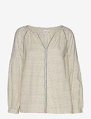 GAP - Embroidered Print Peasant Blouse - pitkähihaiset puserot - white dots - 0
