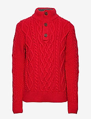 GAP - Kids Cable-Knit Mockneck Sweater - neuleet - modern red 2 - 0