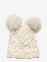 GAP - Toddler Cable-Knit Pom Beanie - hatut - ivory frost - 0