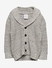 GAP - Toddler Shawl-Collar Cardi Sweater - neuletakit - light heather grey - 0