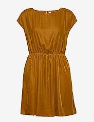 GAP - Velvet Skater Dress - korte jurken - gold wkf827 f - 0