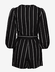 GAP - Puff Sleeve V-Neck Romper - jumpsuits - black stripe - 1