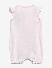 GAP - Baby Ruffle Brannan Bear Shorty One-Piece - krótki rękaw - light pink hthr 20874 - 1