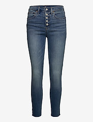 GAP - High Rise True Skinny Ankle Jeans with Secret Smoothing - slim jeans - medium indigo 8 - 0