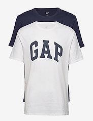 GAP - V-BASIC ARCH 2 PACK - t-shirts à manches courtes - blue/white-f - 0