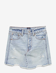 GAP - Kids Destructed Denim Skirt - röcke - light denim - 1