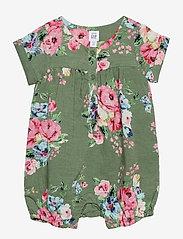 GAP - Baby Floral Shorty - krótki rękaw - twig - 0