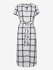 GAP - Midi Shirtdress in Linen-Cotton - midi dresses - navy windowpane - 0
