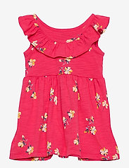GAP - Toddler Ruffle Skater Dress - kjoler - pink floral 1 - 1