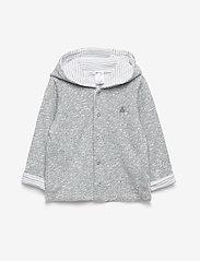GAP - Baby Favorite Reversible Bear Hoodie Sweatshirt - kapuzenpullover - light grey marle - 0