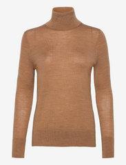 GAP - Merino Turtleneck Sweater - turtlenecks - camel heather b2303 - 0
