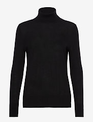 Merino Turtleneck Sweater - TRUE BLACK