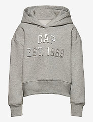GAP - Kids Embossed Gap Logo Hoodie - hoodies - light heather grey - 0