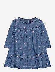 GAP - Toddler Denim Heart Dress - kleider - hearts - 0