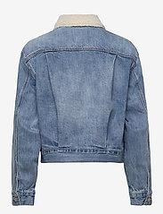 GAP - Dolman Denim Sherpa Icon Jacket - denim jackets - medium indigo 8 - 1